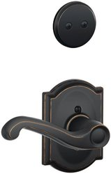 Schlage Lock Right Handed Dummy Interior Pack with Deadbolt - Satin Nickel
