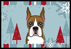"Caroline's Treasures Winter Holiday Boxer Indoor or Outdoor Mat, 18 by 27"", Multicolor"