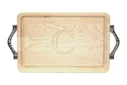 BigWood Boards 200-RP-C Cutting Board with Handles - Maple Wood