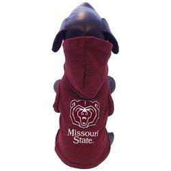 NCAA Missouri State Cotton Lycra Hooded Dog Shirt, Small