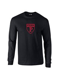 SDI NCAA Pennsylvania Quakers Long Sleeve T-Shirt - Black - Size: XL