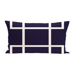 E By Design Geometric Decorative Outdoor Seat Cushion - Navy