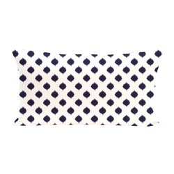 E By Design Cop Ikat Geometric Print Outdoor Seat Cushion - Spring Navy