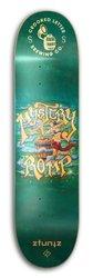 ZtuntZ Skateboards Crooked Letter Brewing Mystery Romp Park Skateboard Deck, Orange/Green/Blue, 8.25 x 31.75-Inch/14.38-Inch WB