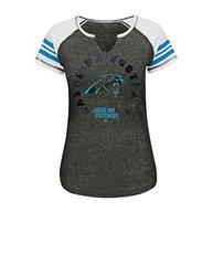 Carolina Panthers Women's More Than Enough Tee - Charcoal/White/Black - L