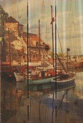 Gizaun Art IH1624 Island Harbor Cedar Wall Art, 16 by 24-Inch