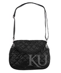 NCAA Kansas Jayhawks Sport Noir Quilted Saddlebag, Black