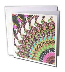 """Abstract Disc Golf Putter - Sports Image Greeting Cards, 6"""" x 6"""", Set of 6 (gc_120322_1)"""