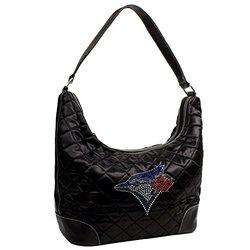 MLB Toronto Blue Jays Sport Noir Quilted Hobo Bag, Black