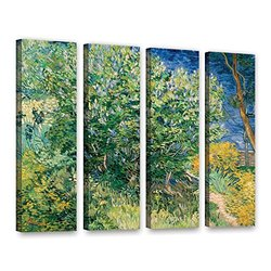 """ArtWall 4-Piece 24""""x32"""" Lilacs by Vincent Van Gogh Gallery-Wrapped Canvas"""