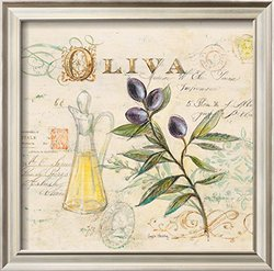 "Tuscan Olive Oil by Angela Staehling Framed Art Print - Purple - 17 x 17"""