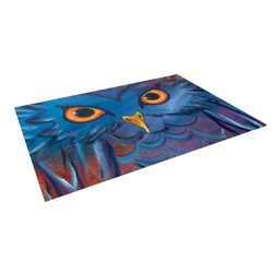 "Kess InHouse 8'x8' Padgett Mason ""Hoot"" Indoor/Outdoor Floor Mat"