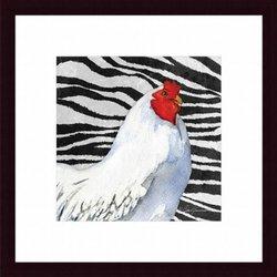Barewalls Zebra Rooster by Barb Tourtillotte Art Print