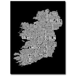 "Trademark Fine Art ""Ireland City Map XV"" Canvas Wall Art - 35"" x 47"""