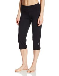 Women's Performance Fitted Yoga Capri Pant - Black - Size: Small