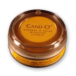 Candle Breeze Cand-o Strudel and Spice Flameless Scented Candle, Small