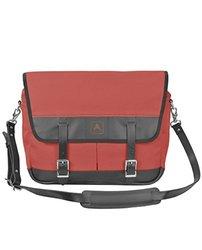 Arrow Canvas Leather Snapshot Shoulder Messenger Bag - Red/Black