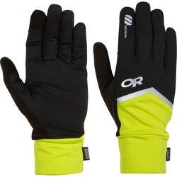 Outdoor Research Speed Sensor Gloves, Black/Lemongrass, X-Large