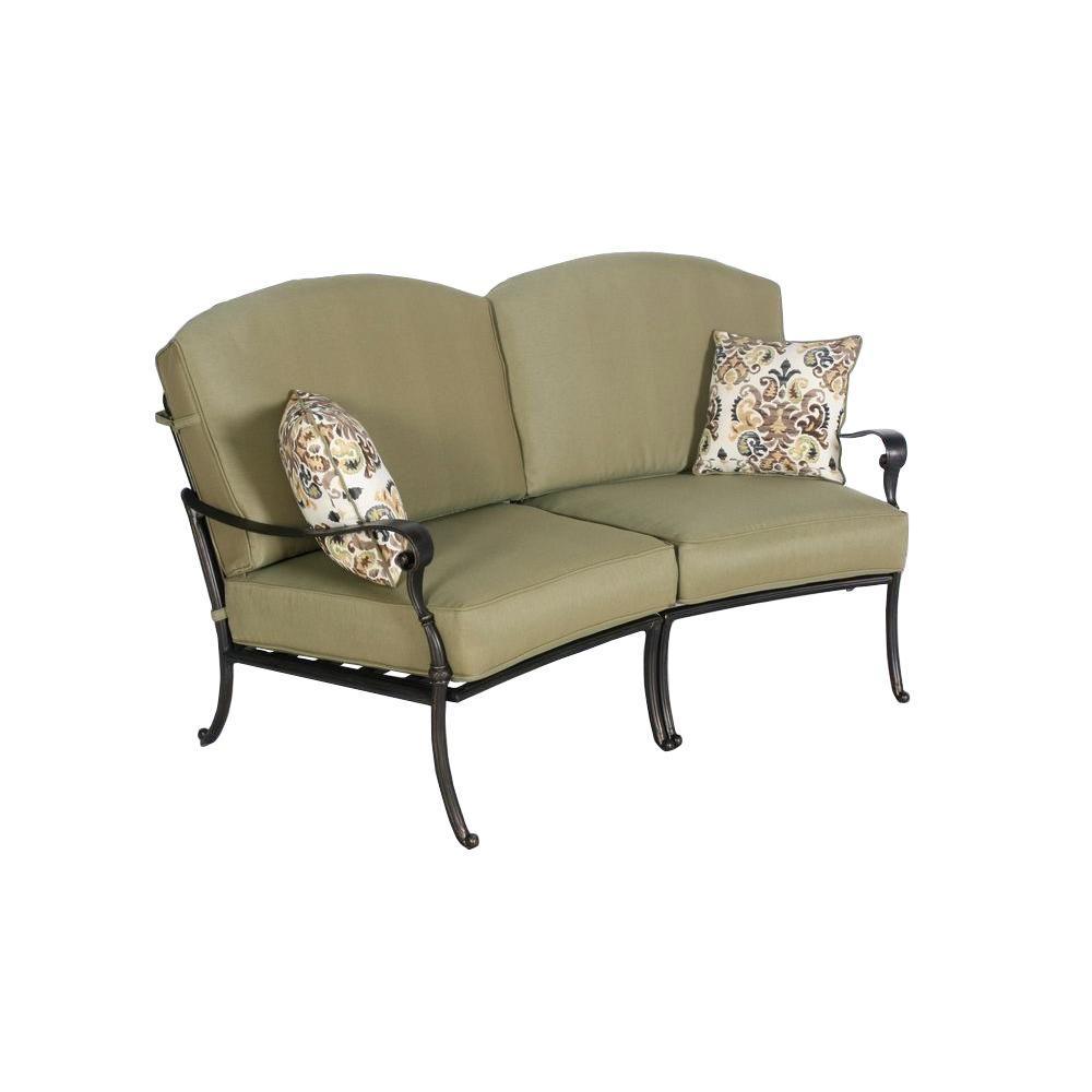 Tremendous Hampton Bay Edington Curved Patio Loveseat Sectional With Celery Cushions Check Back Soon Cjindustries Chair Design For Home Cjindustriesco
