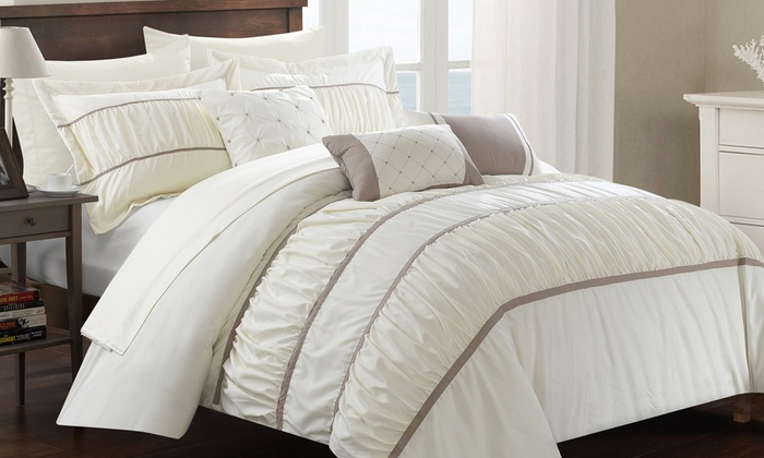 of smallville reversible pinch pleated sets piece cons or chevron pleat and pros comforter
