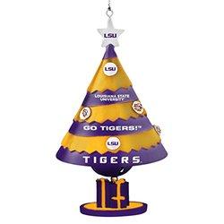 "NCAA LSU Tigers Tree Bell Ornament, Yellow, 5"""