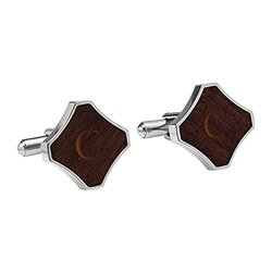 Cathy's Concepts Personalized Redwood Stainless Steel Cuff Links, Letter C