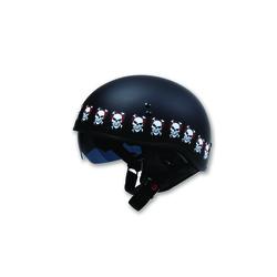 Torc Half Helmet - Flat Black - Size: X-Small