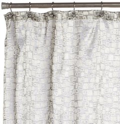 Editex Home Textiles Gina Shower Curtain, 70 by 72-Inch, Silver