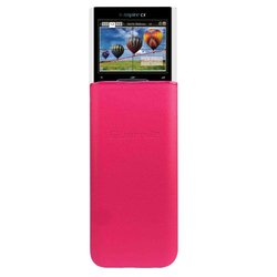 Guerrilla Leather Hard Slide Case-Cover for TI Nspire CX/CX CAS Graphing Calculator, Pink