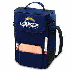 NFL San Diego Chargers Duet Insulated 2-Bottle Wine and Cheese Tote