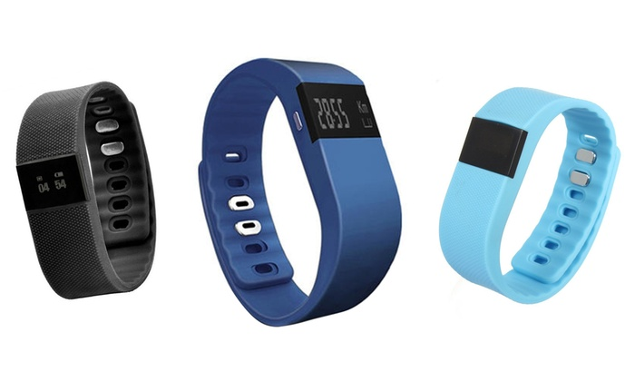 Bluetooth Fitness Bracelet Blue Grey