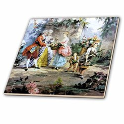 ct_34700_4 Colorful Vintage French Ceramic Tile, 12""