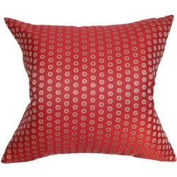 The Pillow Collection Radclyffe Dot Pillow, Hot Pepper