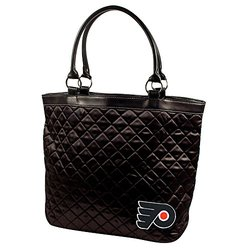 NHL Philadelphia Flyers Quilted Tote, Black