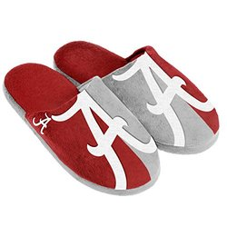 NCAA Alabama Crimson Tide Split Color Slide Slippers - Red - Size: M