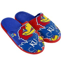 NCAA Kansas Jayhawks Split Color Slide Slippers - Blue - Size: S