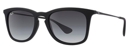 Ray-Ban Unisex Square Sunglasses - Black/Grey Gradient