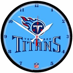 NFL Tennessee Titans Round Clock