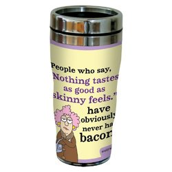 """Tree-Free Greetings sg23814 Hilarious Aunty Acid """"Tastes Like Bacon"""" by The Backland Studio Ltd. 16 Oz Sip 'N Go Stainless Steel Lined Tumbler"""