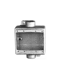 Crouse-Hinds FDC12 Condulet Two Gang Cast Device Box, 1/2-Inch
