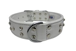 Angel Pet Supplies 41154 Athens Rhinestone Dog Collar in Ivory White
