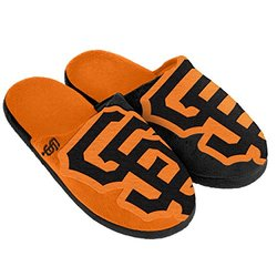 Forever Collectibles MLB San Francisco Giants Slipper - Black - Size: X-L
