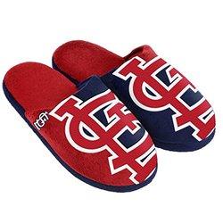 MLB St. Louis Cardinals Split Color Slide Slipper - Red - Size: X-Large