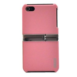 WiGO GOODS LLC KICK-3432 KICK Series, Kickstand Protective Case for iPhone 4 - 1 Pack - Carrying Case - Retail Packaging - Pink
