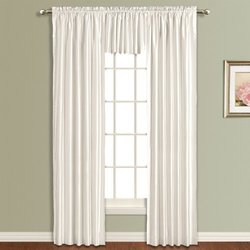 "American Curtain and Home Kathryn 54"" x 63"" Window Curtain - White"