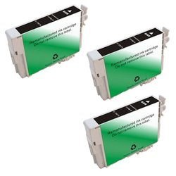 Amsahr T0771 Remanufactured Replacement Ink Cartridges with 3 Black Cartridges