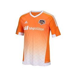 adidas Men's MLS Houston Dynamo Replica S/S Jersey - Orange - Size: X-L