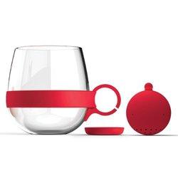 Asobu Tea Party Mug, Red