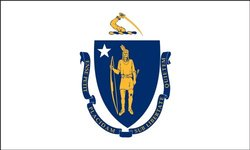 America's Flag Company SF5X8NOMA1 5-Foot by 8-Foot Nylon Massachusetts State Flag with Canvas Header and Grommets