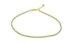 Golden Moon Anklet with Swarovski Crystals - Gold